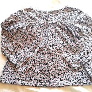 Girls Joe Fresh Size 5 Floral Shirt